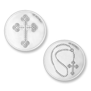 Moneda mediana Cross&Rosary Mi Moneda MON-CRO-01-M