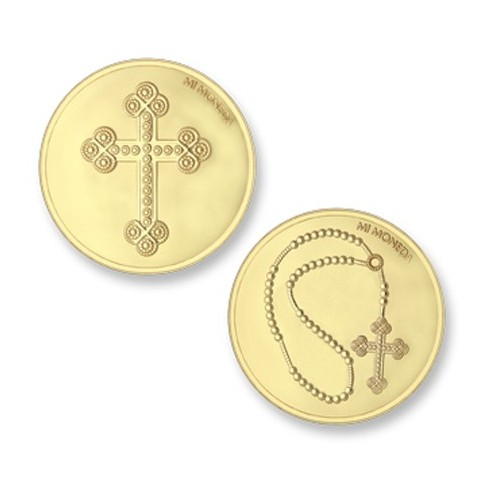 Moneda grande Cross&Rosary Mi Moneda MON-CRO-02-L