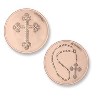 Moneda pequeña Cross&Rosary Mi Moneda MON-CRO-03-S