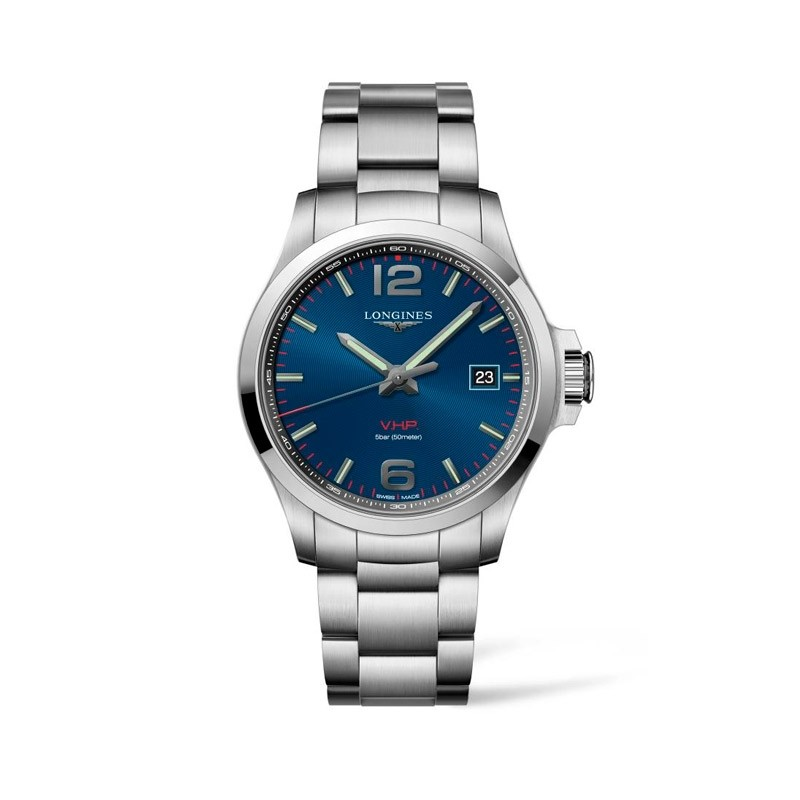 Reloj Longines Conquest V.H.P. Cuarzo 43mm L3.726.4.96.6