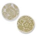 Moneda grande Champagne Lace Print ENC-42-L