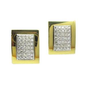 Pendientes oro blanco y oro amarillo y diamantes. G0110077