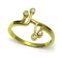 Sortija oro amarillo y diamantes. Ref.: B01100252