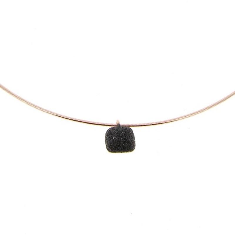 Collar Pesavento Plata Rosa WDNAG055