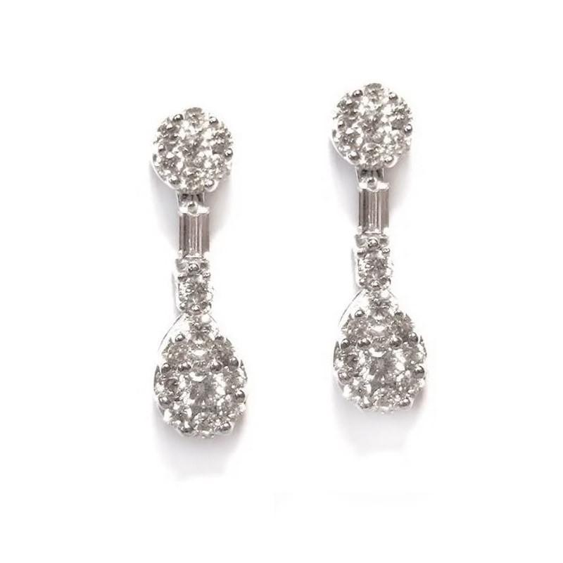 Pendientes oro blanco y diamantes. G01100623
