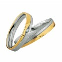 Alianzas de oro bicolor Saint Maurice  Colección Light 87002/03