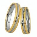 Alianzas de oro bicolor Saint Maurice Colección Light 87004/05