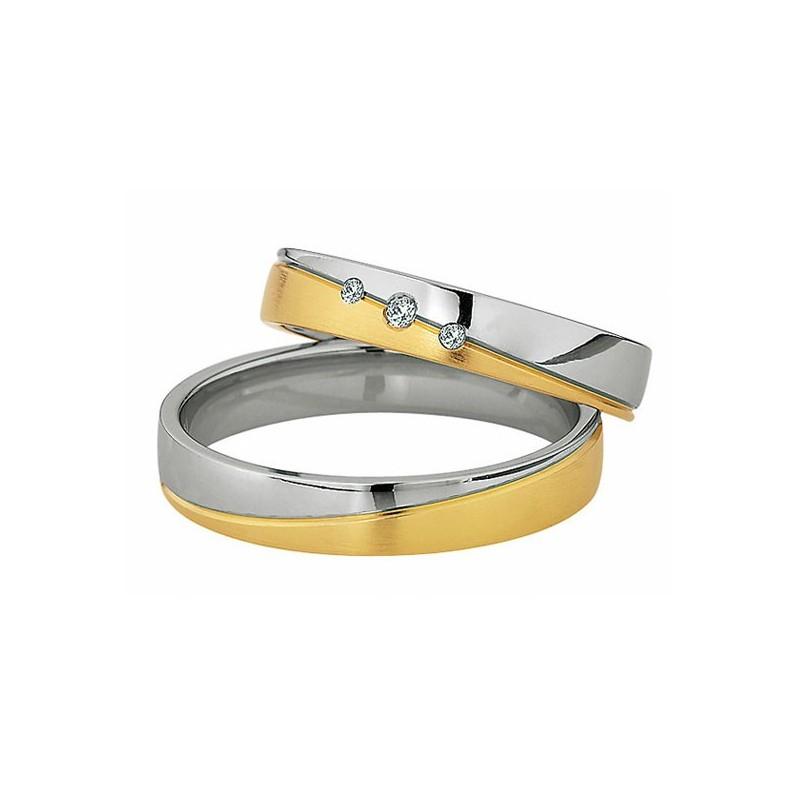 Alianzas de oro bicolor Saint Maurice  Colección Light 87006/07