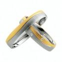 Alianzas de oro bicolor Saint Maurice Colección Light 87008/09
