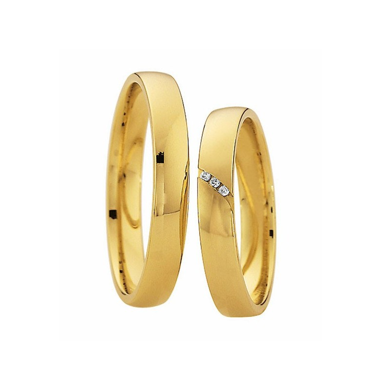 Alianzas oro amarillo Saint Maurice  Colección Light 87024/25