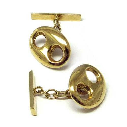 Gemelos ovalados de oro N00100004