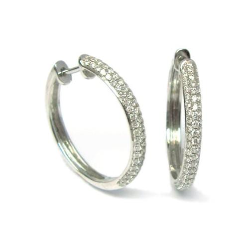 Pendientes oro blanco y diamantes. G01120290