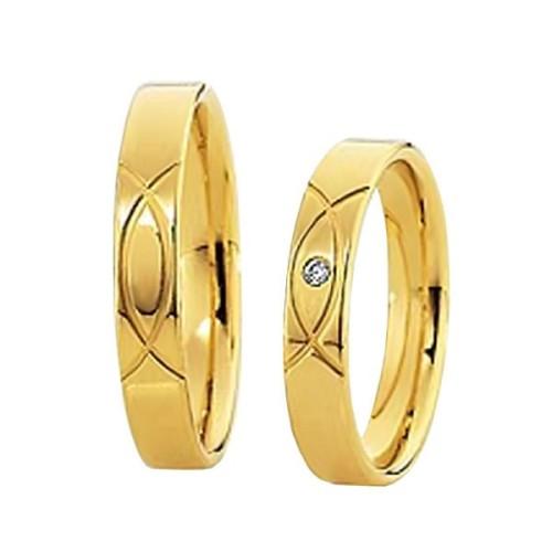 Alianzas oro amarillo Saint Maurice Colección Light 87038/39