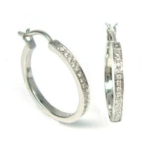 Pendientes oro blanco y diamantes. G51100078