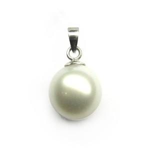 Colgante oro blanco y perla J04120009