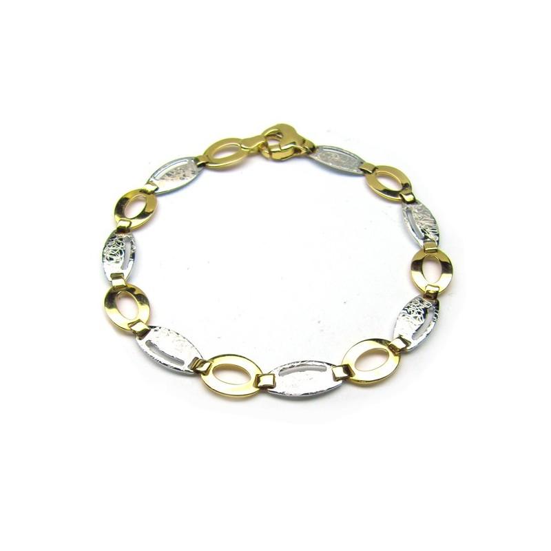Pulsera oro bicolor. C00400336