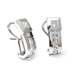 Pendientes oro blanco y diamantes. G01100302