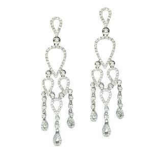 Pendientes oro blanco y diamantes. G01120187