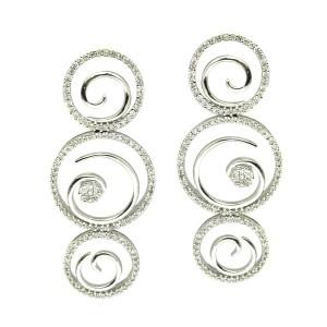 Pendientes oro blanco y diamantes. G01120262