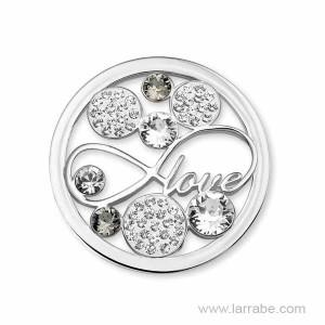 Moneda Grande Love Cristal Mi Moneda M-SW-LOV-37-L
