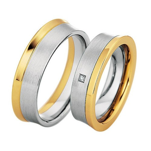 Alianzas Saint Maurice Colección Steel&Gold (Ref.: 49-88212/13)