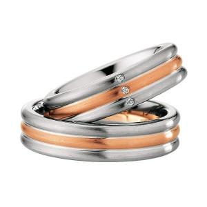 Alianzas Saint Maurice Colección Steel&Gold (Ref.: 49-88222/23)
