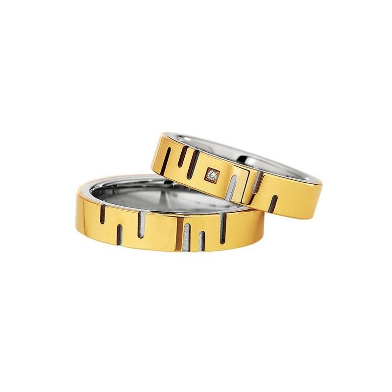 Alianzas Saint Maurice Colección Steel&Gold (Ref.: 49-88236/37)