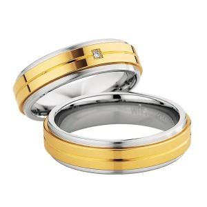 Alianzas Saint Maurice Colección Steel&Gold (Ref.: 49-88238/39)
