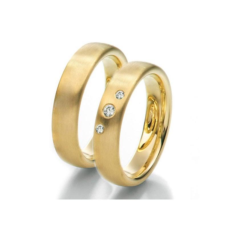 Alianzas de oro amarillo Saint Maurice Colección Twin Set 49-81161/62