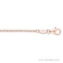 Cadena de Plata rodiada en oro rosa 60 cm ERN-R