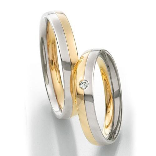 Alianzas de oro bicolor Saint Maurice Twin Set 49-81200/01