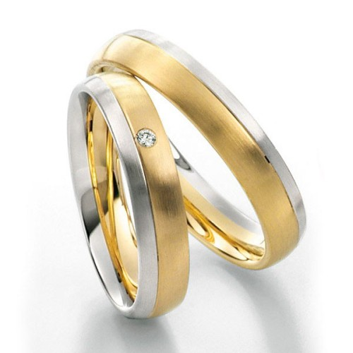 Alianzas de oro bicolor Saint Maurice Twin Set 49-81206/07