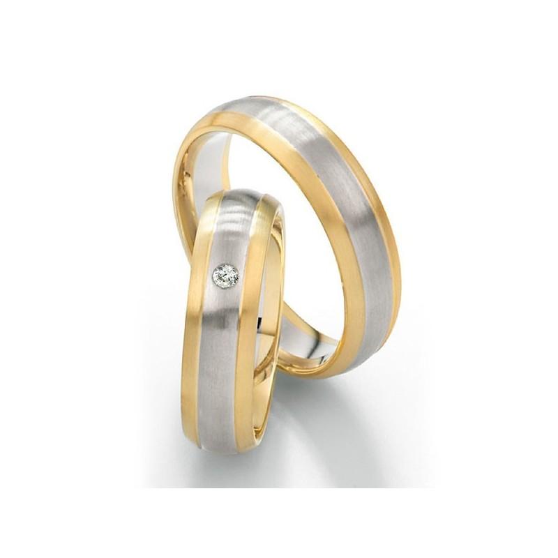 Alianzas de oro bicolor Saint Maurice Twin Set 49-81212/13