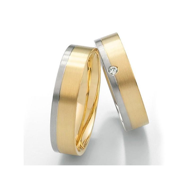 Alianzas de oro bicolor Saint Maurice Twin Set 49-81214/15