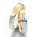 Alianzas de oro bicolor Saint Maurice Twin Set 49-81216/17