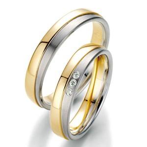 Alianzas de oro bicolor Saint Maurice Twin Set 49-81412/13