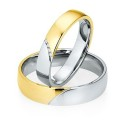Alianzas de oro bicolor Saint Maurice - Selection 841250_841260