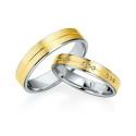 Alianzas de oro bicolor Saint Maurice - Selection 841310_841320