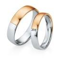 Alianzas de oro bicolor Saint Maurice - Selection 841330_841340