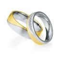 Alianzas de oro bicolor Saint Maurice - Selection 841370_841380