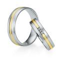 Alianzas de oro bicolor Saint Maurice - Selection 841390_841400
