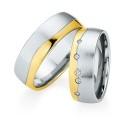 Alianzas de oro bicolor Saint Maurice - Selection 841570_841580