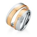 Alianzas de oro bicolor Saint Maurice - Selection 841610_841620