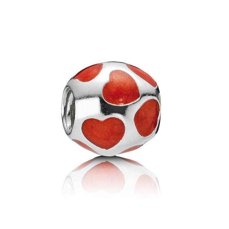 Charm Pandora Corazones Rojos 790543EN17