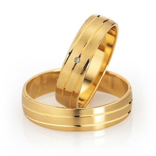 Alianzas de oro amarillo Saint Maurice  - Slim 49-81500_81501
