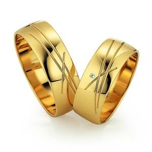 Alianzas de oro amarillo Saint Maurice  - Slim 81522_23