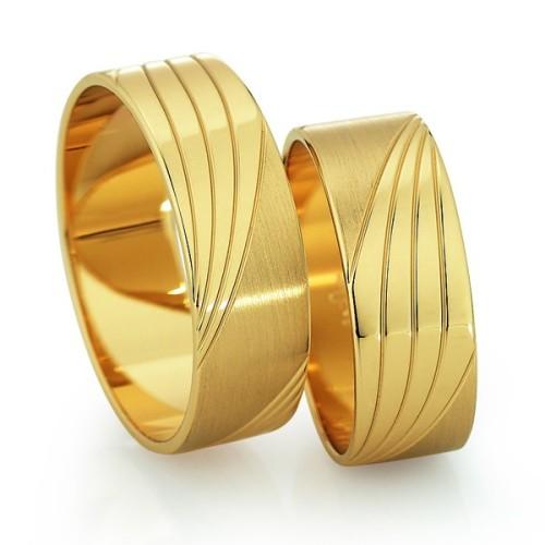 Alianzas de oro amarillo Saint Maurice - Slim 81526_27