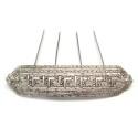Peineta de plata con rodio, con cenefa griega ZCZ500004