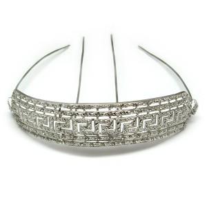 Diadema de plata con rodio motivo Versace. Ref.: ZCZ500017