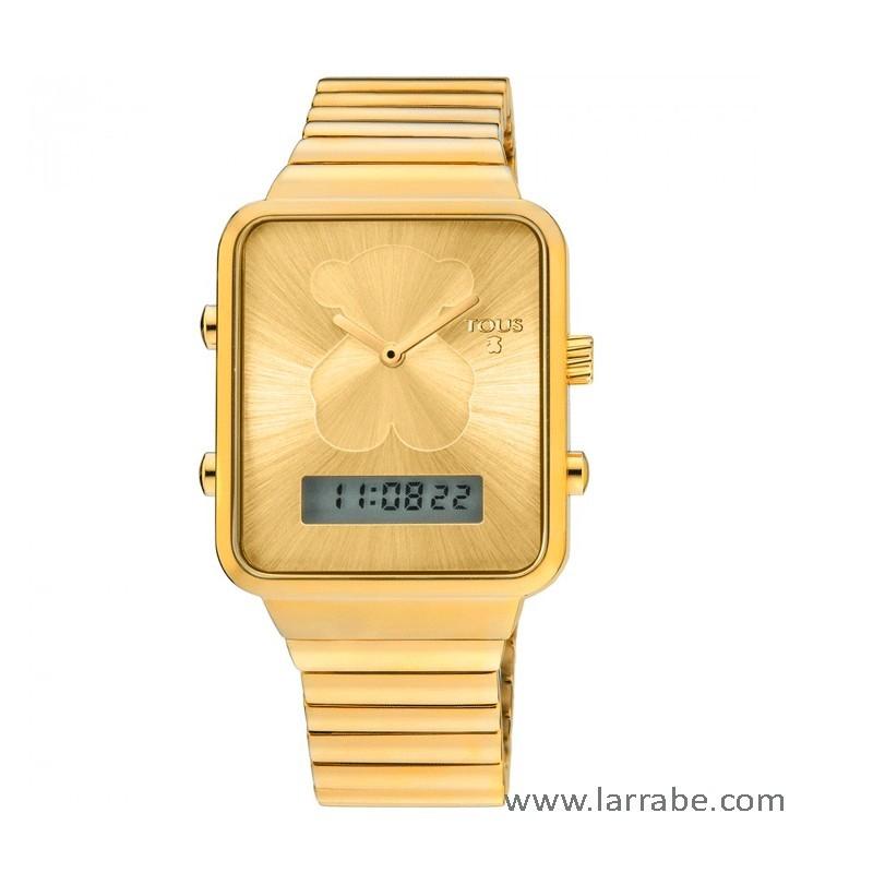 Reloj Tous I-Bear digital de acero con baño dorado 700350125
